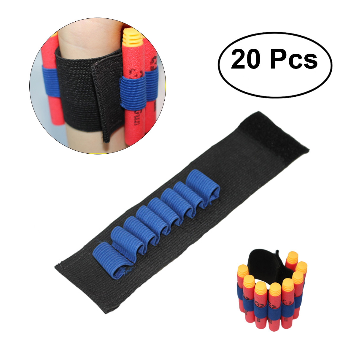 Nerf Bullet Wrist Band Ammo Holder Bandolier Ideal for Party bags Tactical Elite