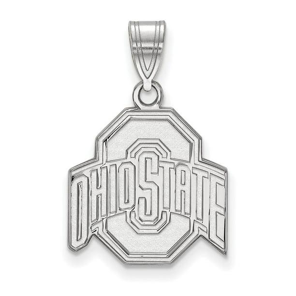 White Sterling Silver Charm Pendant Washington Unisex NCAA State University 20 mm
