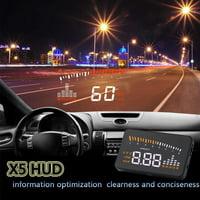 Speed Warning, Speedometer HUD,OBDII HUD Head Up Display Color LED Projector Speed Warning System for Car Trucks