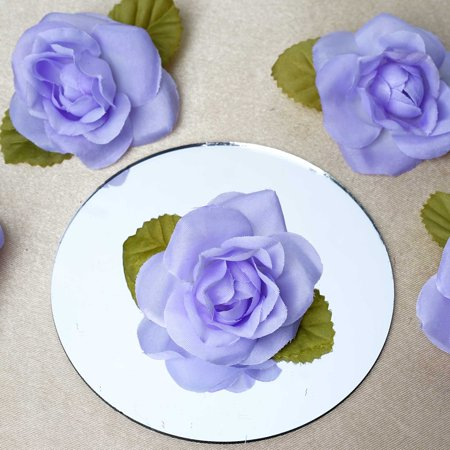 BalsaCircle 12 Open Roses Heads Craft Flowers - Mini Flowers for DIY Wedding Birthday Party Favors Decorations Supplies
