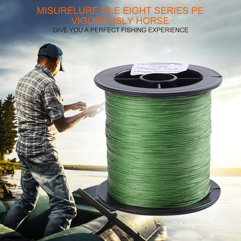 Super Strong 8 Strands Braided 500m Outdoor Fishing Line String Fishing Tackle