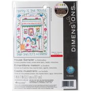 Dimensions Mini Embroidery Kit, House Sampler