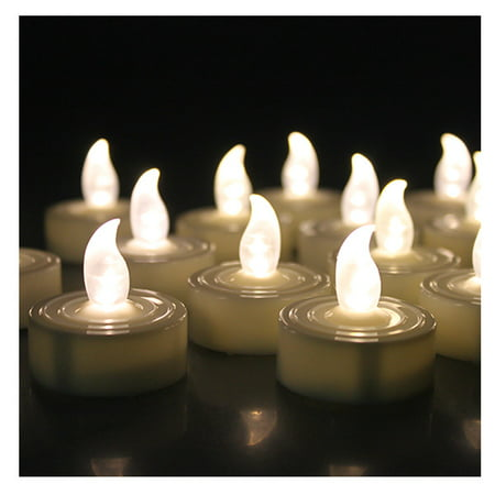 AGPtek 60 PCS Battery Operated Flameless LED Tealights Candles - Warm white (Flameless Colored Candles)