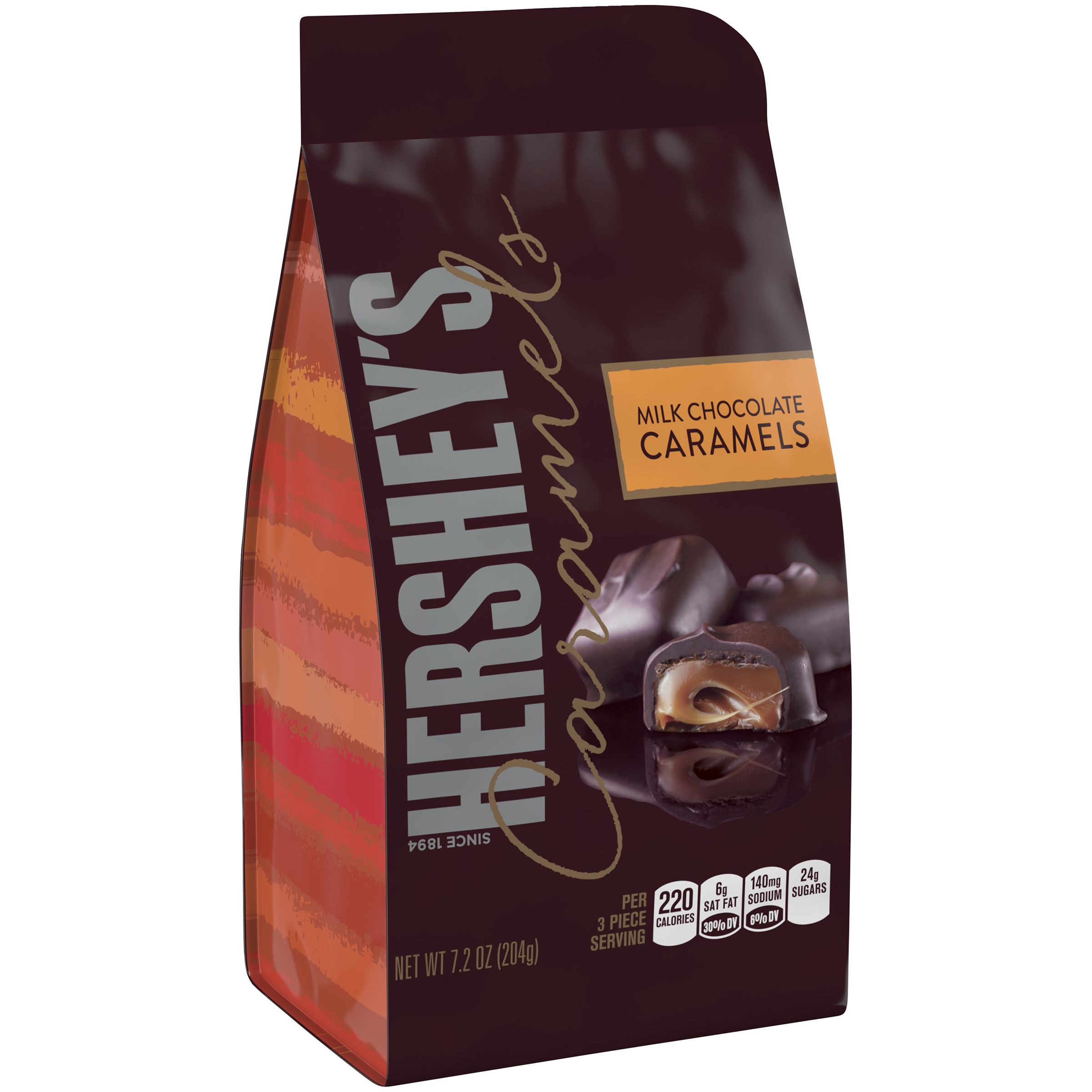 HERSHEY'S Caramels in Milk Chocolate, 7.2 oz