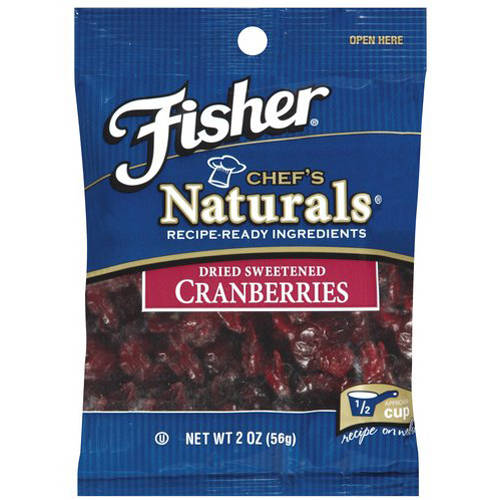 Fisher Chef's Naturals Dried Sweetened Cranberries, 2 oz