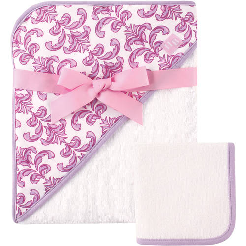 Hudson Baby Girls' Woven Hooded Towel and Washcloth, Choose Your Color by Hudson Baby
