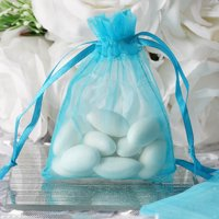 BalsaCircle 10 pcs 3x4 inch Organza Favor Bags - Wedding Party Favors Jewelry Pouch Candy Gift Small Goody Bags