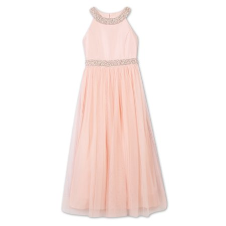 Pearl Embellished Long Occasion Dress (Big Girls) (Occasion Dresses Girls)