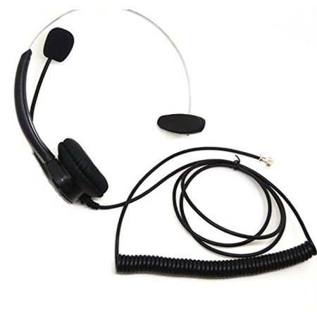 CQtransceiver Comfortable Landline Wired Telephone Headset