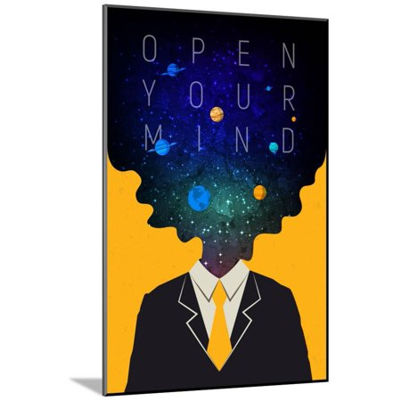 Open Your Mind Wood Mounted Poster Wall Art - Art Minds Wood