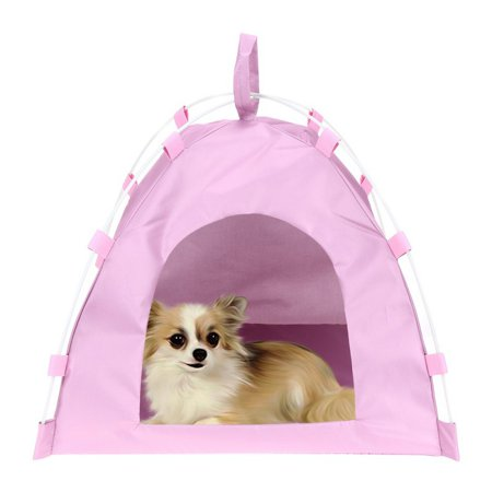 Portable Folding Pet Bed (Portable Pet Dog Cat Tent Folding Outdoor Home House Bed Travel Play Tent )