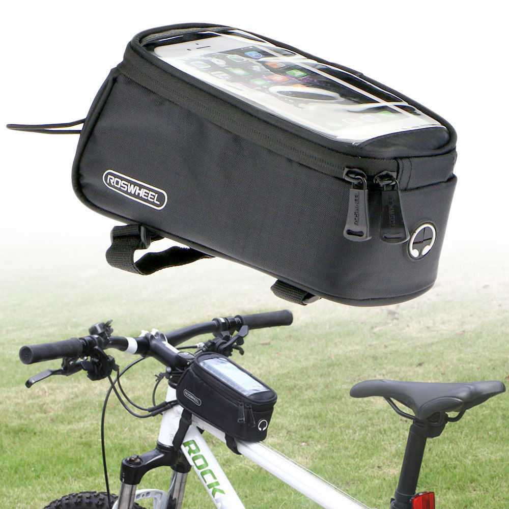 Waterproof Bike Bicycle Cycling Front Frame Pannier Tube Bag For Cell Phone New