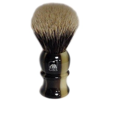 Best Badger Faux Horn Shaving Brush with Free Stand From GBS by