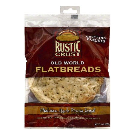 Rustic Crust Italian Herb Pizza Crust Old World Flatbreads, 2 ea (Pack of