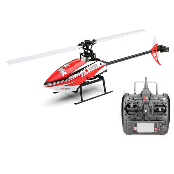 XK K120 Shuttle 6CH 6 Axis Brushless System RC Helicopter RTF 3D and 6G mode + Remote Control by