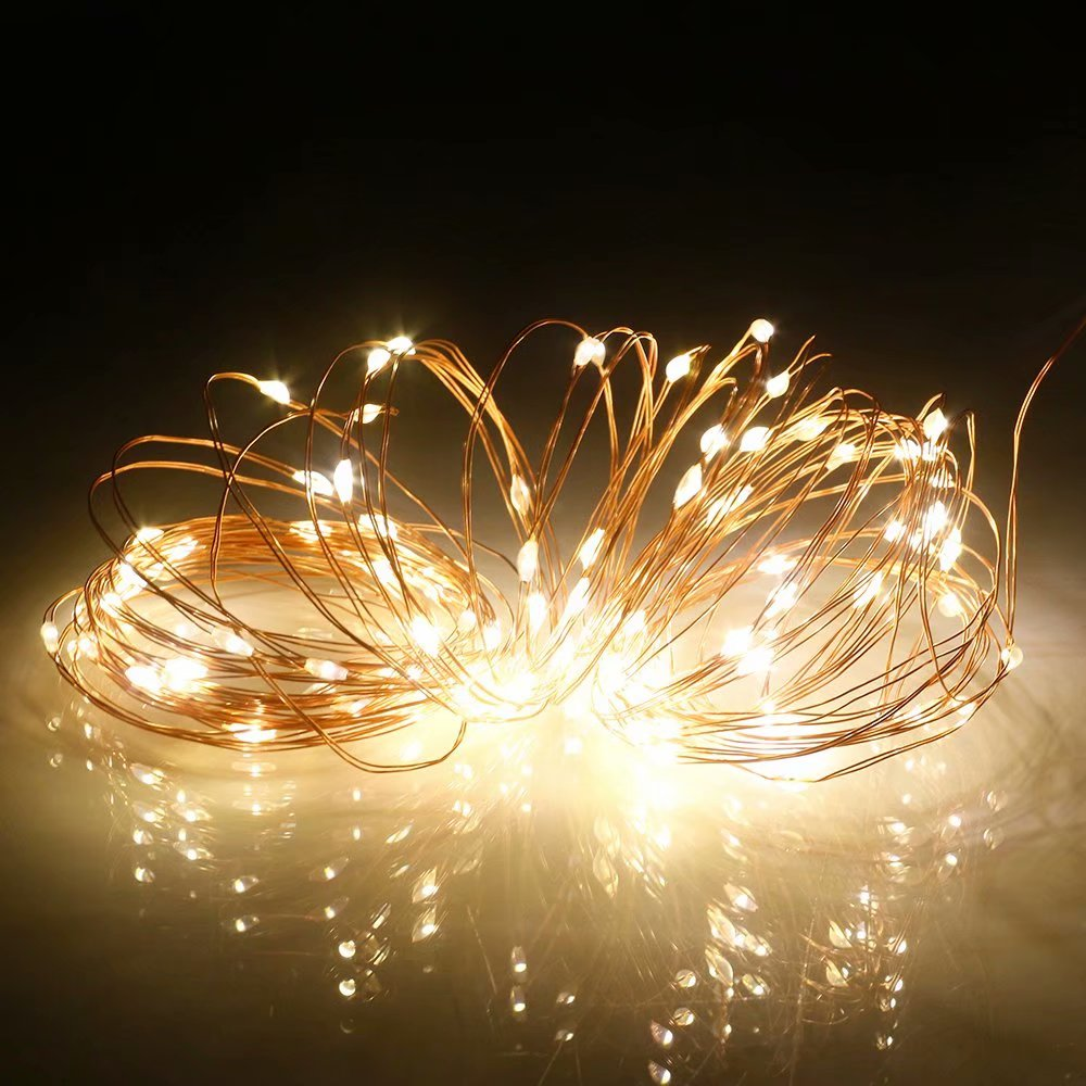 10M 100 LEDs Waterproof USB Copper Wire Christmas Decoration String Light Garden Courtyard String Li