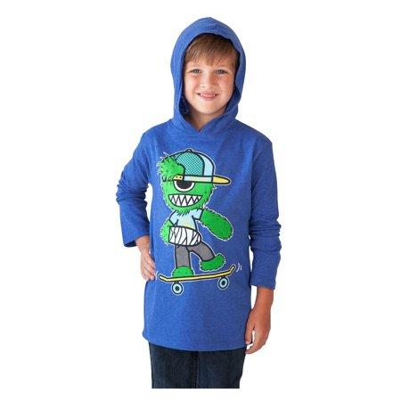 Tony Hawk Monster Skater Boys Hooded Shirt Blue Size XL - image 2 of 2