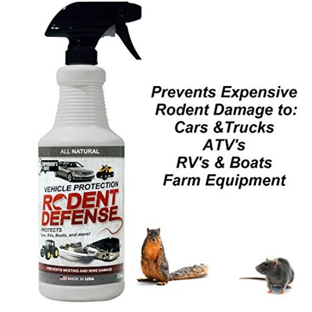 Vehicle Protection by Exterminators Choice-Mice & Rodent Repellent Vehicle Wiring|Protects Engine Wiring|Prevents Nesting/Chewing-All Natural-for Rats,Squirrels, Mice