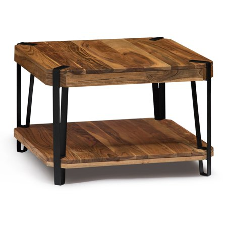 Small Cube Coffee Table.Alaterre Ryegate Natural Live Edge Solid Wood And Metal Cube Coffee Table