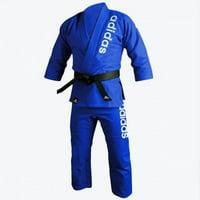 adidas Jiu-Jitsu Martial Arts Double Weave Gi, Blue