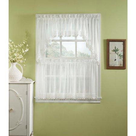 chf you ashlyn kitchen curtains set of 2. Black Bedroom Furniture Sets. Home Design Ideas