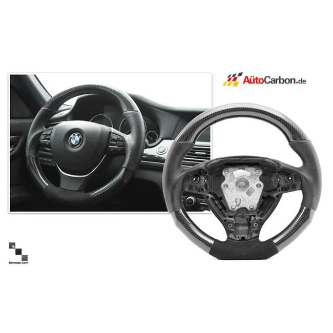 Bimmian STW60ICB3 Autocarbon Carbon Fiber Alcantara Steering Wheel For Any E60