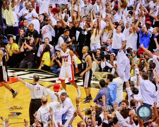 Ray Allen Game Tying Three Pointer Game 6 of the 2013 NBA Finals Photo Print 8 x 10