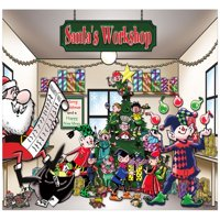 The Holiday Aisle Santa's Workshop Garage Door Mural