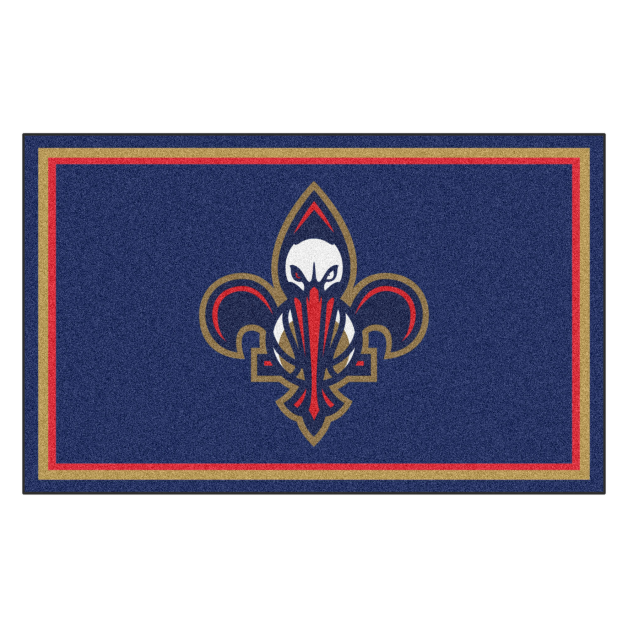 NBA New Orleans Pelicans 4 x 6 Foot Plush Non-Skid Area Rug