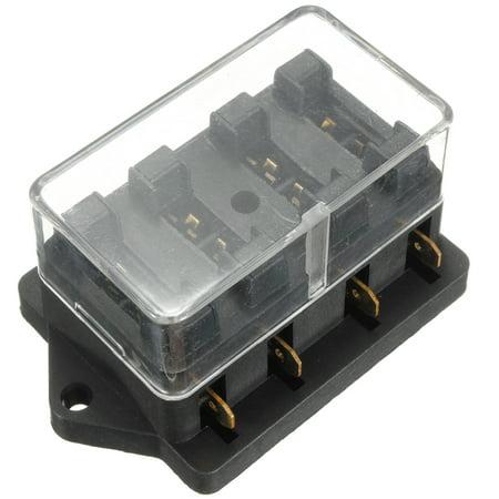 universal automotive fuse box 12v 4 way car cblade fuse holder box circuit ato atc in out  12v 4 way car cblade fuse holder box