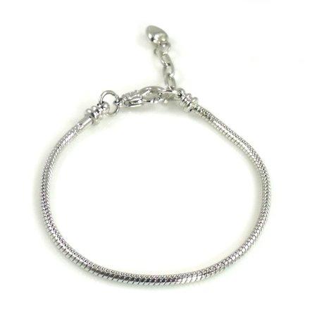 Athena Jewelry Silver Snake Chain Bracelet Fits Pandora