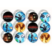 "train drag buttons party favors supplies decorations collectible metal pinback buttons pins, large 2.25"" -12 pcs, how to train your dragon toothless girl stormfly night fury hiccup"