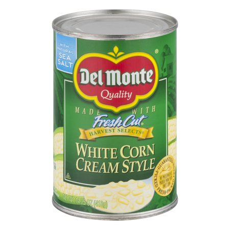 (6 Pack) Del Monte Harvest Selects Cream Style White Corn, 14.75