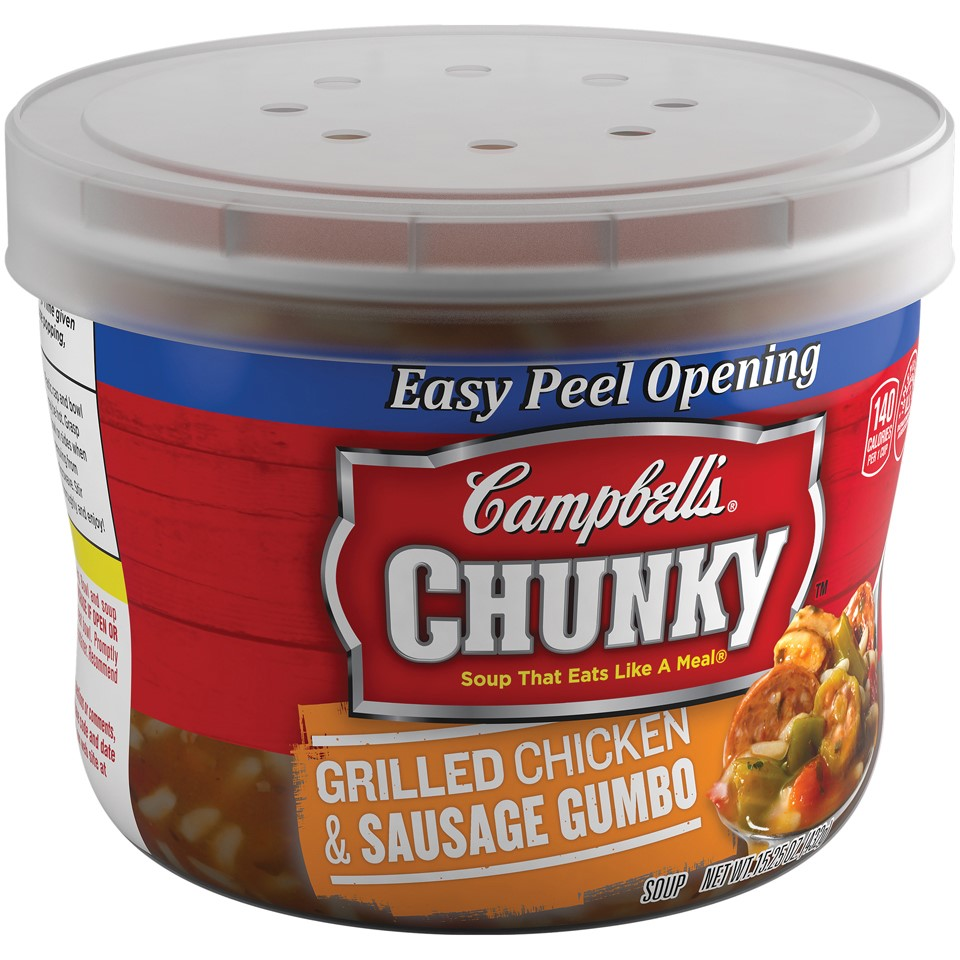 Campbell's Chunky Grilled Chicken & Sausage Gumbo Soup 15.25oz Bowl by Campbell's