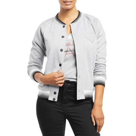Women's Bomber Jacket (Heather Grey) for $<!---->