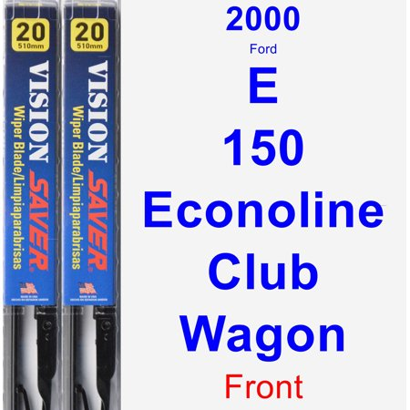 2000 Ford E-150 Econoline Club Wagon Wiper Blade Set/Kit (Front) (2 Blades) - Vision Saver