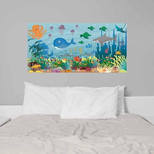 Mona MELisa Designs Peel and Stick Ocean Boy Mural
