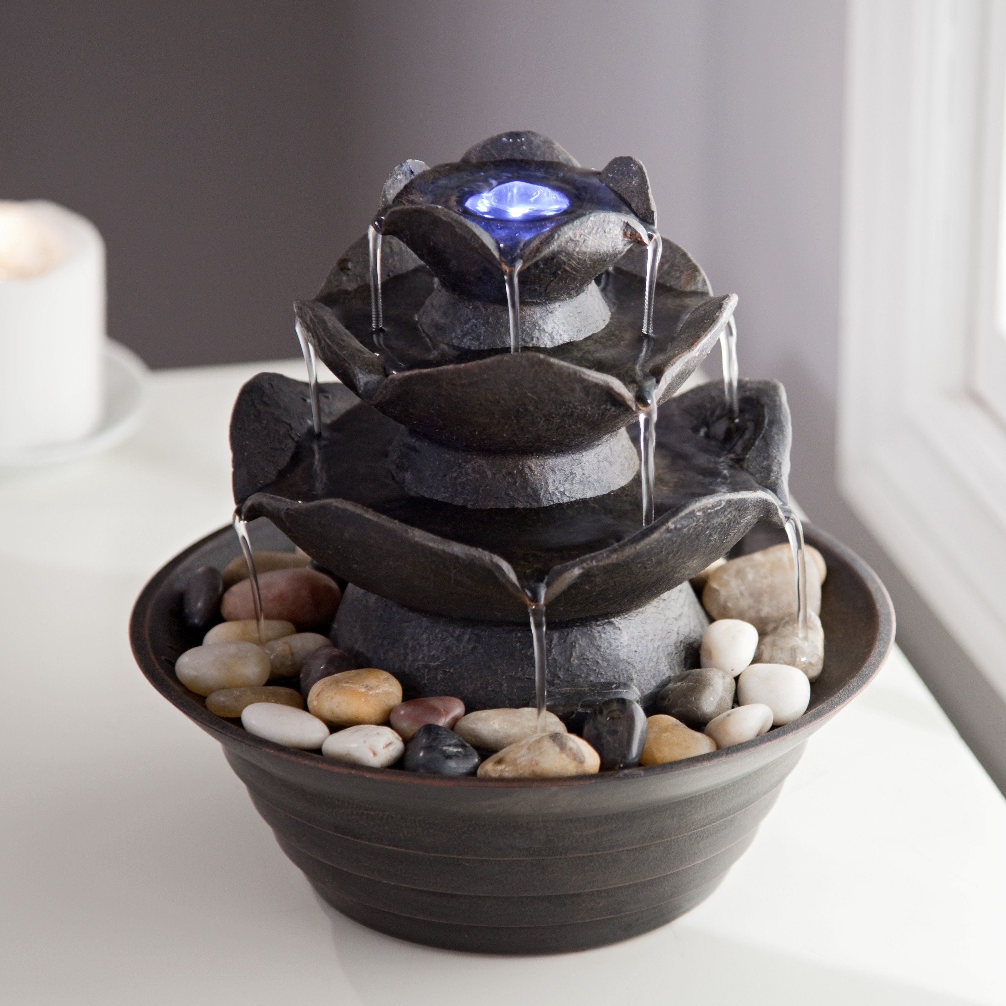 Bond Quinn Indoor Outdoor Tabletop Fountain by Bond Manufacturing