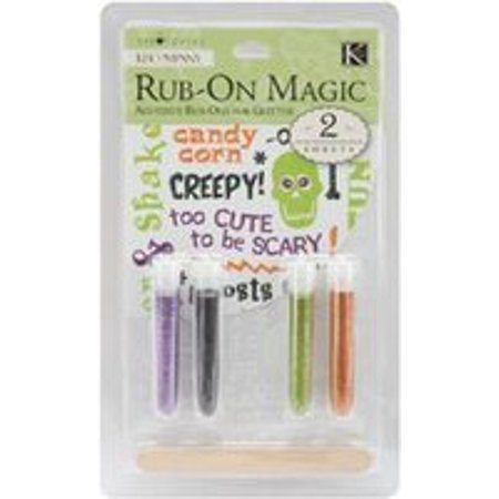 Tim Coffey Halloween Rub-on Magic-2 pc/4 Tubes-Glitter 3Pk By K&Company