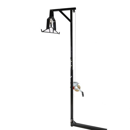 Hitch Hoist -Mounted Big Game Hunting Deer Hoist with Winch Lift Gambrel 500lb Capacity