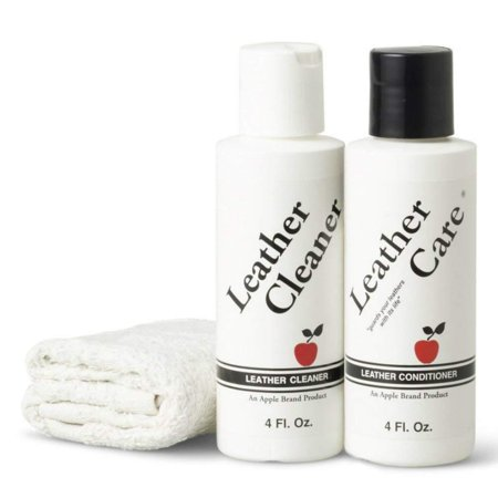 Leather Cleaner & Conditioner Kit - For Use On Leather Purses, Handbags, Shoes, Boots & Accessories - Safe On All Colors, KEEPS LEATHER LIKE.., By Apple brand ()