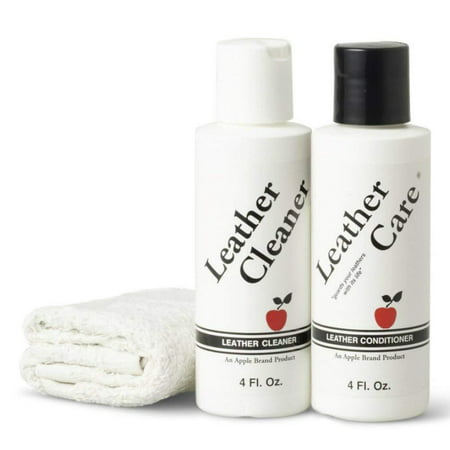 Leather Cleaner & Conditioner Kit - For Use On Leather Purses, Handbags, Shoes, Boots & Accessories - Safe On All Colors, KEEPS LEATHER LIKE.., By Apple