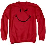 Smiley World Big Wink Mens Crewneck Sweatshirt