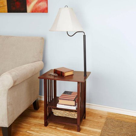 Better Homes And Gardens 3 Rack End Table Floor Lamp Espresso Finish