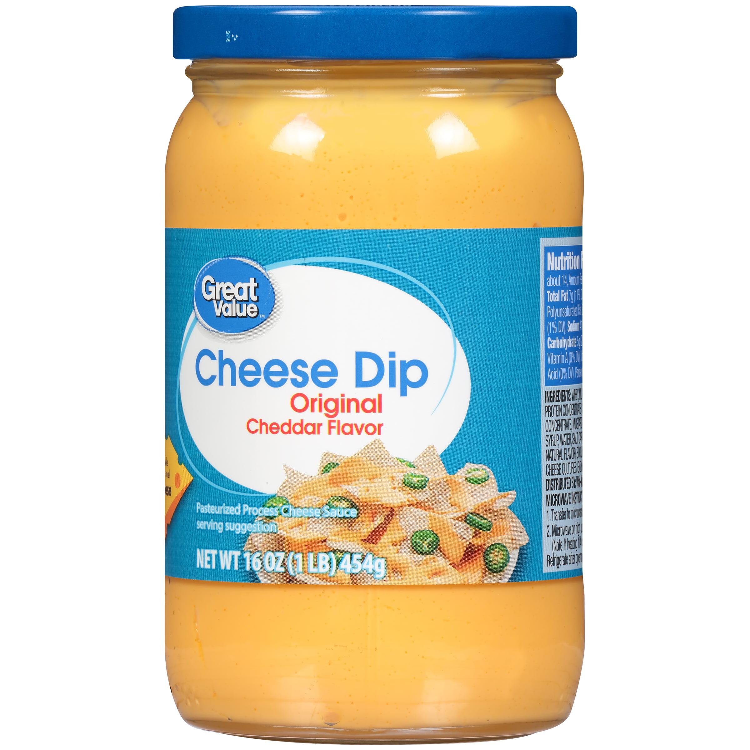 Great Value Cheese Dip, Cheddar Flavor, 16 oz - Walmart.com