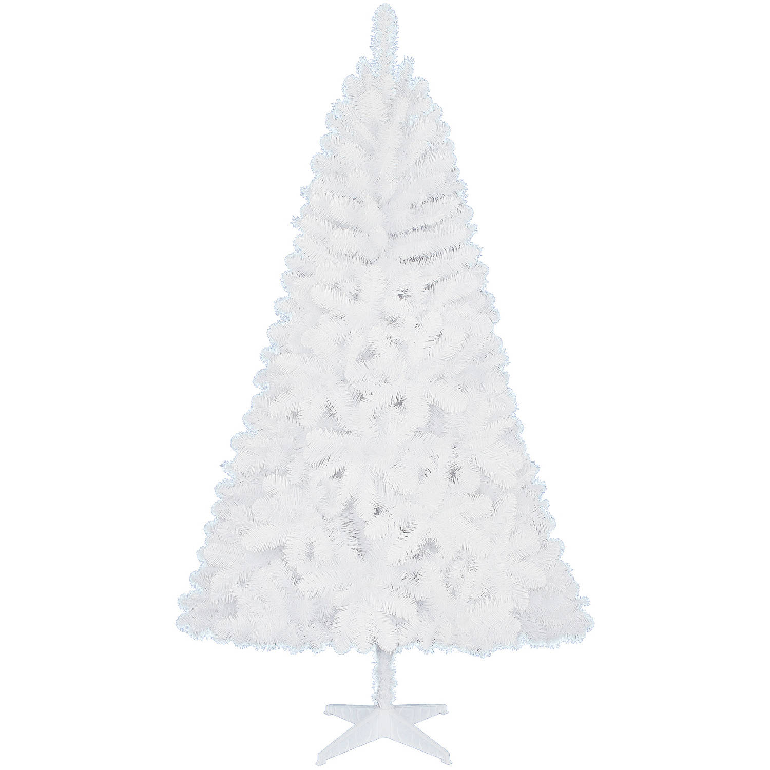 Holiday Time Unlit 6.5' Jackson Spruce White Artificial Christmas ...