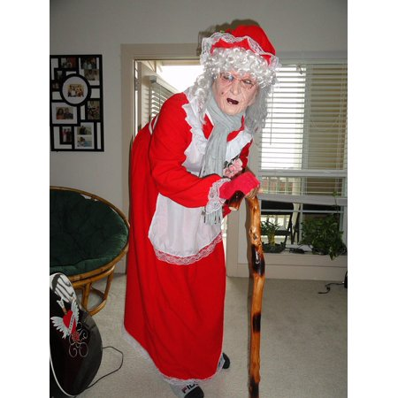 Canvas Print Outfit Xmas Santa Christmas Miss Claus Holiday Stretched Canvas 10 x 14