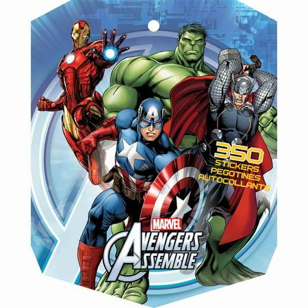 Marvel Super Hero Party Avengers 8-sheet Sticker Book Favours, Paper, 10