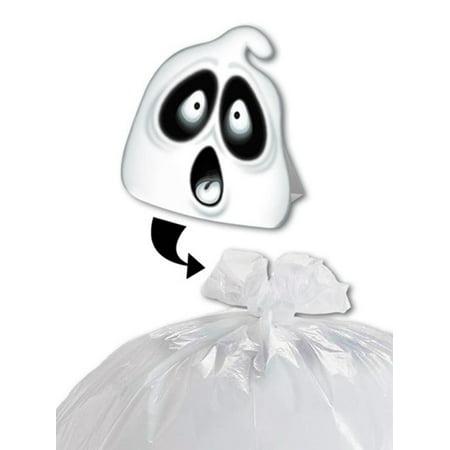 Club Pack of 12 Spooky Spirit Ghost Halloween Leaf Bag Decoration 35