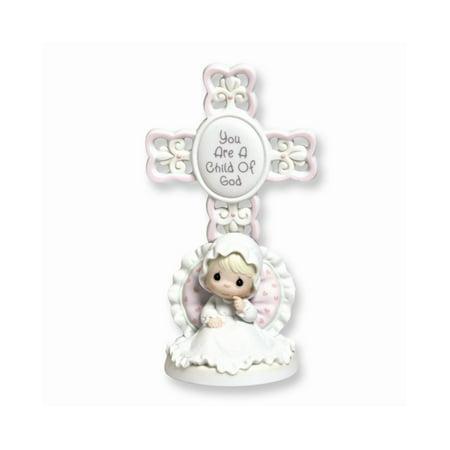 Precious Moments Girl Christening Cross Figurine